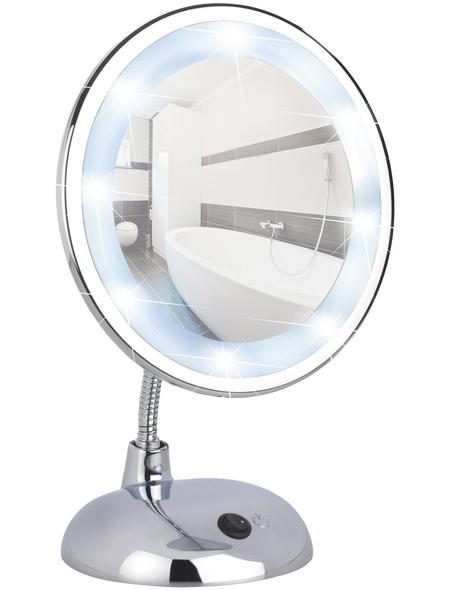 WENKO Kosmetikspiegel »Style«, beleuchtet, rund, BxH: 17,5 x 28 cm