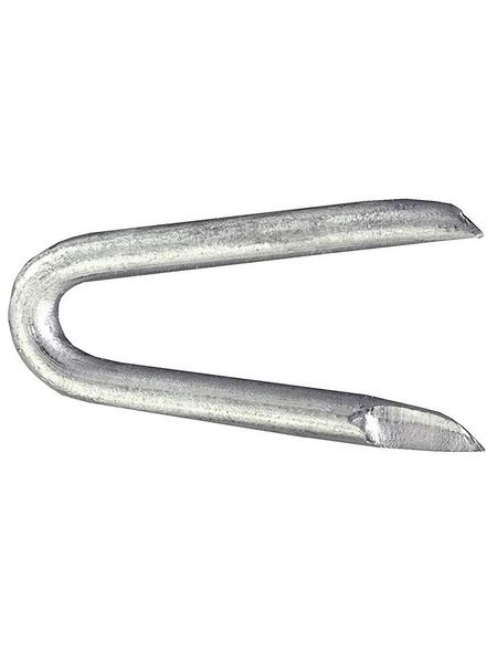 GECCO Krampe, Schlaufe Stahl verzinkt Ø 2,5 x 25 mm 500 g