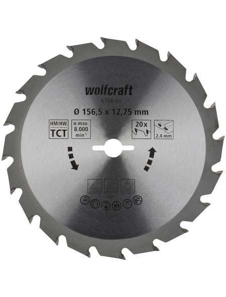 WOLFCRAFT Kreissägeblatt »Grün«, Ø 156,5 mm, 20 Zähne