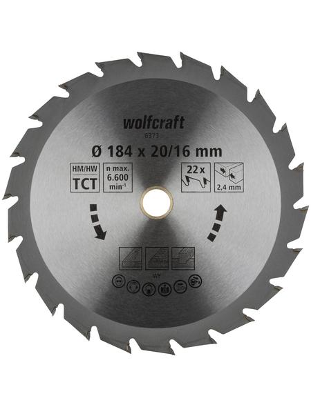 WOLFCRAFT Kreissägeblatt »Grün«, Ø 184 mm, 22 Zähne