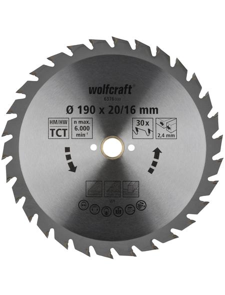 WOLFCRAFT Kreissägeblatt »Grün«, Ø 190 mm, 30 Zähne