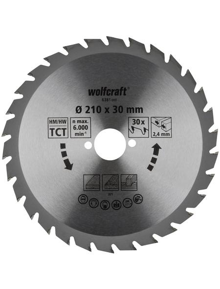 WOLFCRAFT Kreissägeblatt »Grün«, Ø 210 mm, 30 Zähne