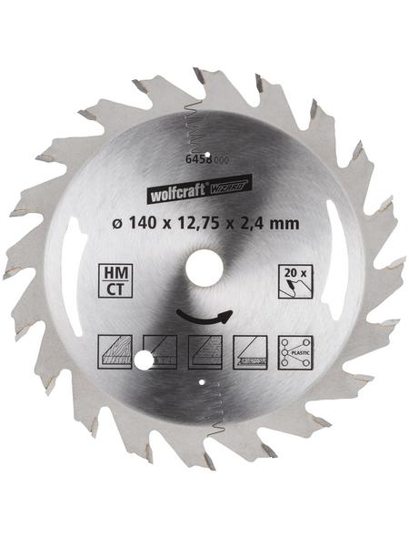 WOLFCRAFT Kreissägeblatt, Ø 140 mm, 20 Zähne