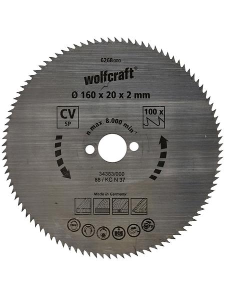 WOLFCRAFT Kreissägeblatt, Ø 160 mm, 100 Zähne