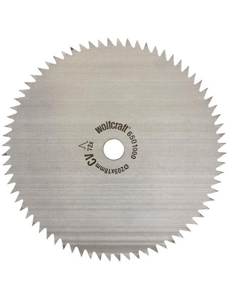 WOLFCRAFT Kreissägeblatt, Ø 205 mm, 72 Zähne