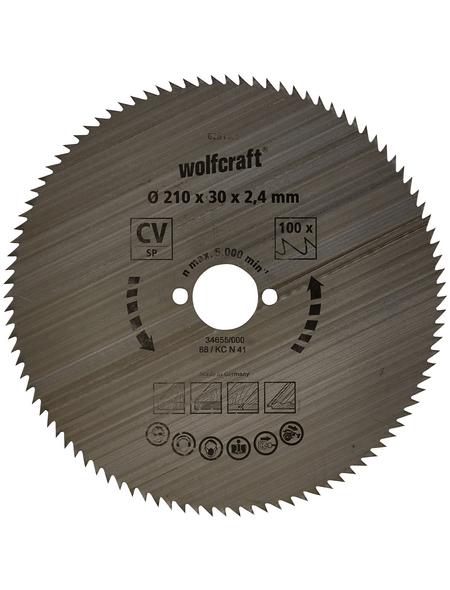 WOLFCRAFT Kreissägeblatt, Ø 210 mm, 100 Zähne