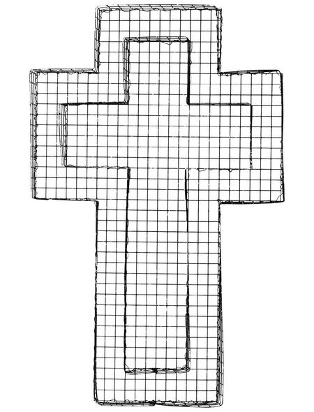 BELLISSA Kreuzgitter, BxHxL: 30 x 5 x 50 cm, Stahl