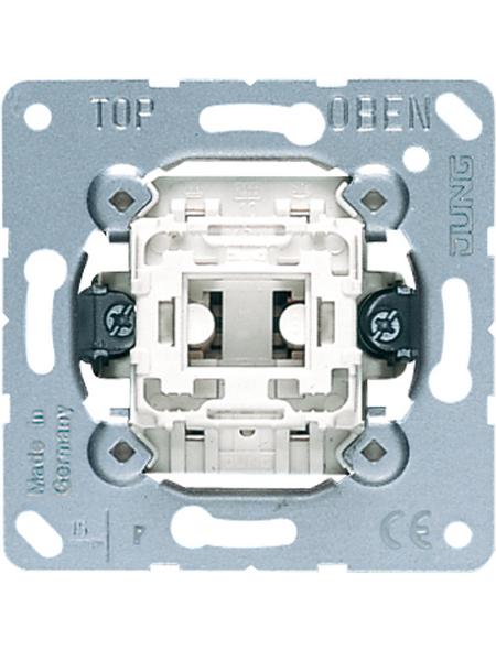 JUNG Kreuzschalter-Einsatz, 507U, Kunststoff   Metall, Silber