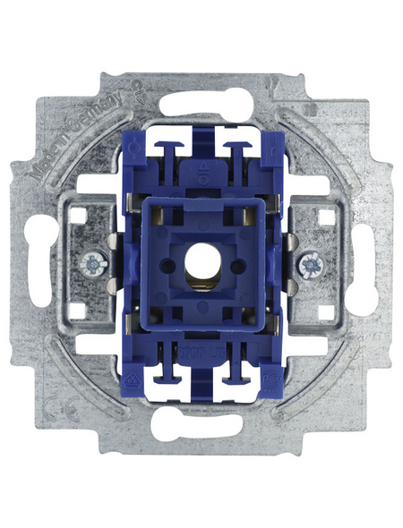 BUSCH-JAEGER Kreuzschalter-Einsatz, Kunststoff   Metall, Silber