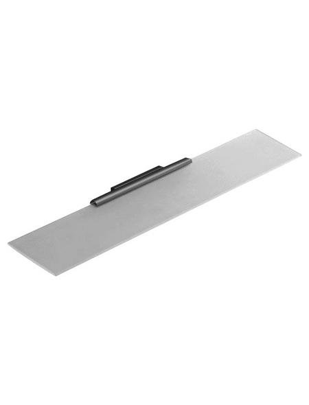 KEUCO Kristallglasplatte »Plan«, transparent/silberfarben