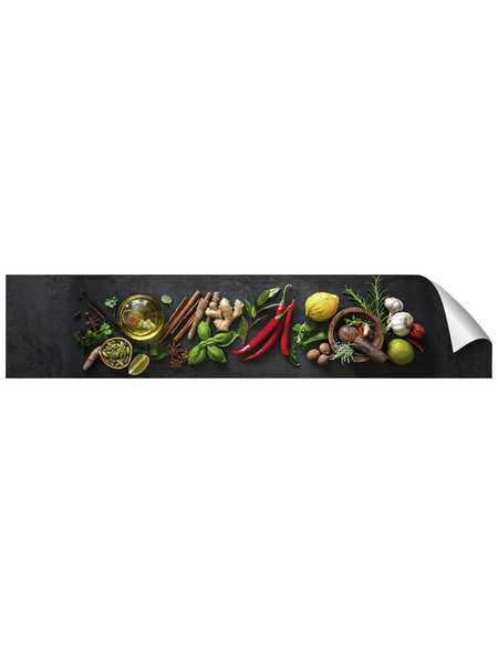 mySPOTTI Küchenrückwand-Panel, fixy, Gewürze, 280x60 cm