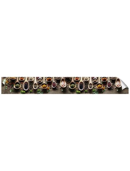 mySPOTTI Küchenrückwand-Panel, fixy, Gewürze, 450x60 cm