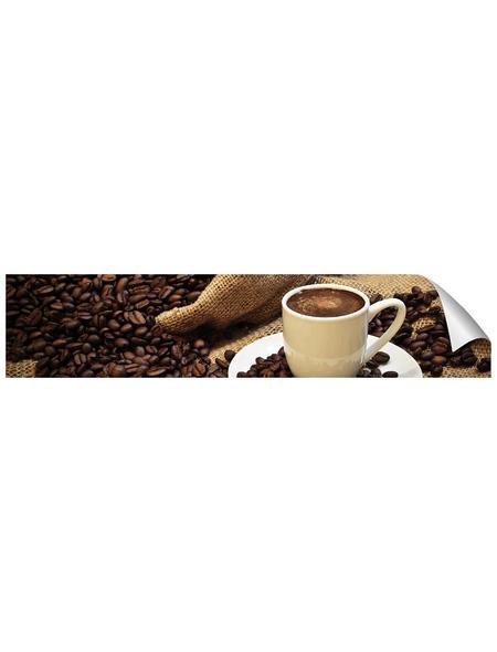 mySPOTTI Küchenrückwand-Panel, fixy, Kaffebohnen und Tasse, 280x60 cm