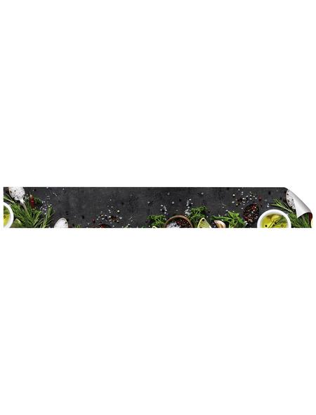 mySPOTTI Küchenrückwand-Panel, fixy, Kräuter auf Tafel, 450x60 cm