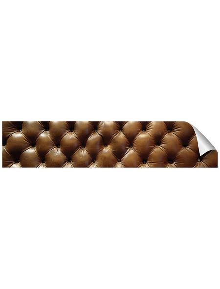 mySPOTTI Küchenrückwand-Panel, fixy, Lederstruktur, 280x60 cm