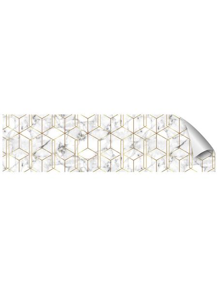 mySPOTTI Küchenrückwand-Panel, fixy, Marmoroptik, 280x60 cm