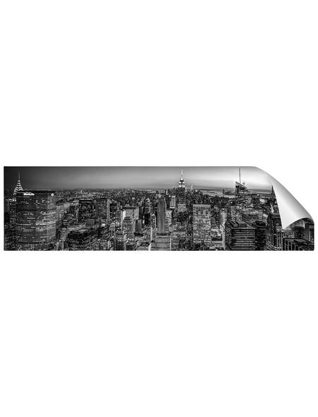 mySPOTTI Küchenrückwand-Panel, fixy, Stadtpanorama, 220x60 cm