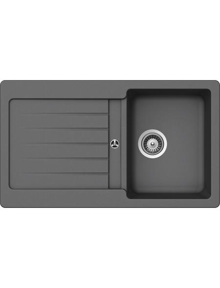 SCHOCK Küchenspüle, Cristalite Typos D-100 Croma, Granit | Komposit | Quarz, 86 x 50