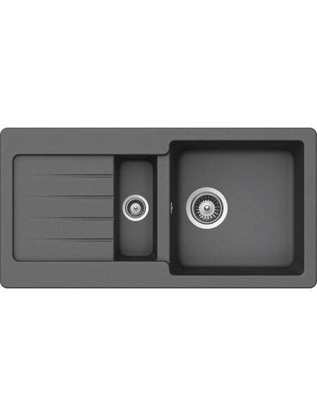 SCHOCK Küchenspüle, Cristalite Typos D-150S Croma, Granit | Komposit | Quarz, 86 x 43,5