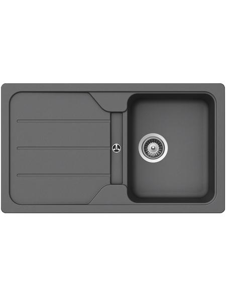 SCHOCK Küchenspüle, Formhaus D-100 Croma, Granit | Komposit | Quarz, 86 x 50
