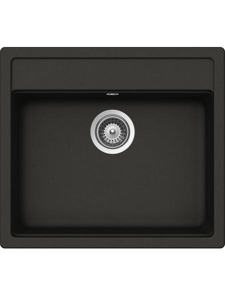 SCHOCK Küchenspüle, Nemo N-100 Asphalt, Granit | Komposit | Quarz, 57 x 51