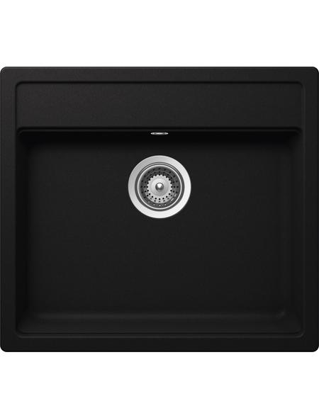 SCHOCK Küchenspüle, Nemo N-100 Nero, Granit | Komposit | Quarz, 57 x 51