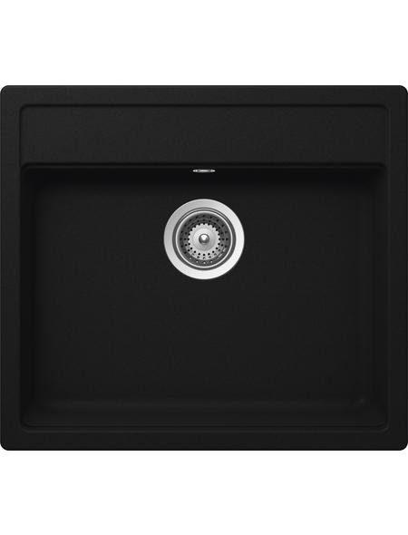 SCHOCK Küchenspüle, Nemo N-100 Onyx, Granit | Komposit | Quarz, 57 x 51