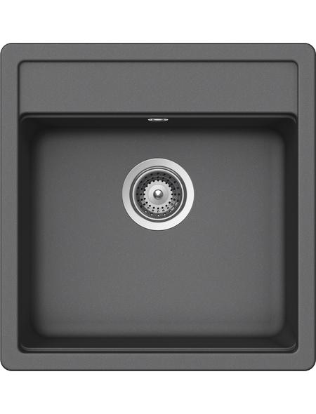 SCHOCK Küchenspüle, Nemo N-100S Croma, Granit   Komposit   Quarz, 49 x 51