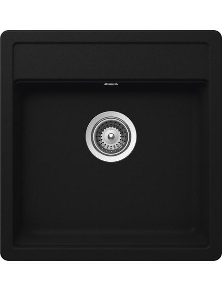 SCHOCK Küchenspüle, Nemo N-100S Onyx, Granit   Komposit   Quarz, 49 x 51