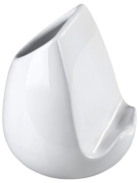 WENKO Küchenutensilienhalter, Keramik, Weiß