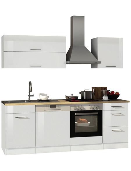 HELD MÖBEL Küchenzeile »Mailand«, mit E-Geräten, Gesamtbreite: 220cm