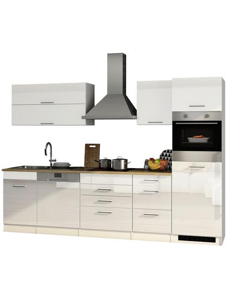 HELD MÖBEL Küchenzeile »Mailand«, mit E-Geräten, Gesamtbreite: 300cm