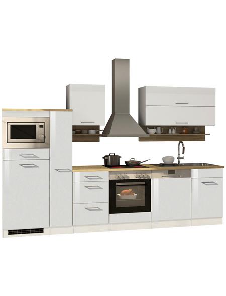 HELD MÖBEL Küchenzeile »Mailand«, mit E-Geräten, Gesamtbreite: 310cm