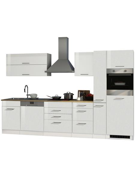 HELD MÖBEL Küchenzeile »Mailand«, mit E-Geräten, Gesamtbreite: 330cm