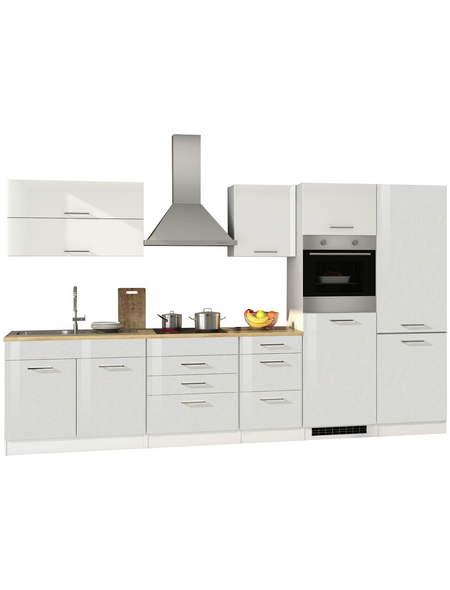 HELD MÖBEL Küchenzeile »Mailand«, mit E-Geräten, Gesamtbreite: 350cm