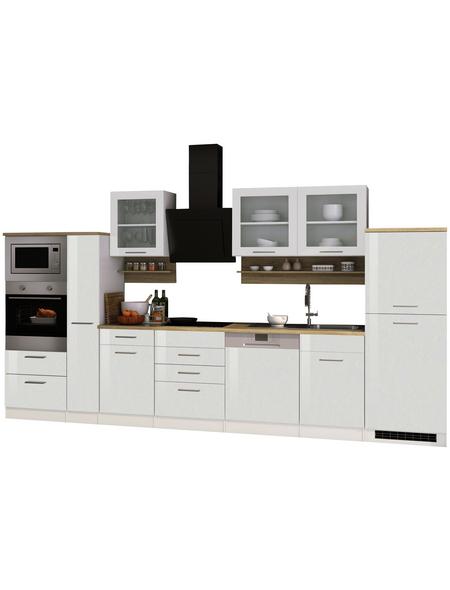 HELD MÖBEL Küchenzeile »Mailand«, mit E-Geräten, Gesamtbreite: 370cm