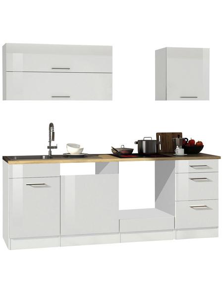HELD MÖBEL Küchenzeile »Mailand«, ohne E-Geräte, Gesamtbreite: 220cm