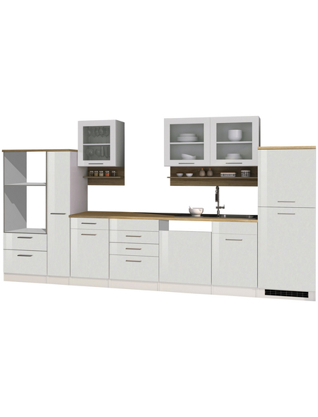 HELD MÖBEL Küchenzeile »Mailand«, ohne E-Geräte, Gesamtbreite: 370cm