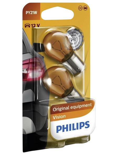 PHILIPS Kugellampe, PY21W, 21 W