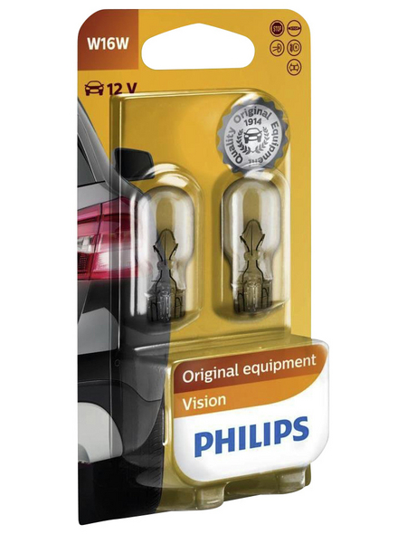 PHILIPS Kugellampe »Vision«, W16W, 16 W