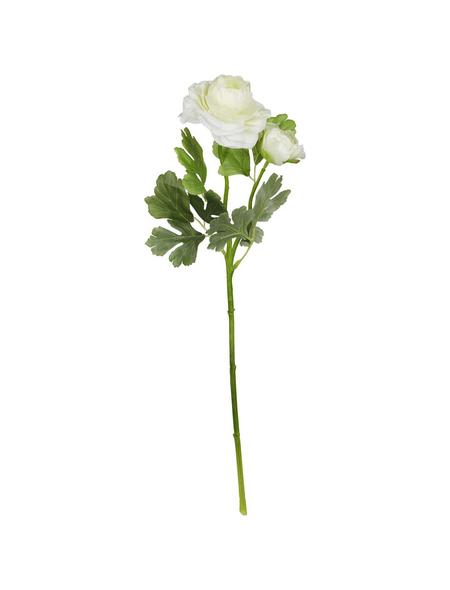 Flower-Power Kunstblume, Ranunkel, weiß