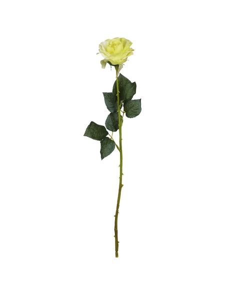 Flower-Power Kunstblume, Rose Diamant, gelb