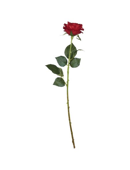 Flower-Power Kunstblume, Rose Diamant, rot