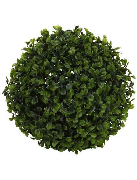 Flower-Power Kunstpflanze, grün, kugelförmig