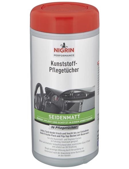 NIGRIN Kunststoff-Pflegetücher , Weiß, 36 Stk.