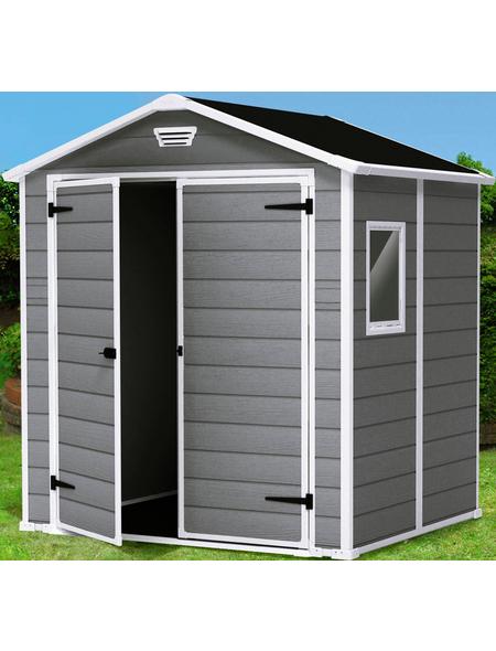 TEPRO Kunststoffhaus »Manor 6x8«, Außenmaß Breite: 185,8 cm, Kunststoff