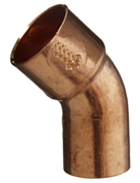 CORNAT Kupferbogen, 45°, 22 mm, 1 Muffe