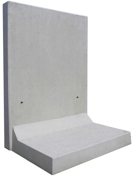 MR. GARDENER L-Stein, BxHxL: 100 x 180 x 100 cm, Beton