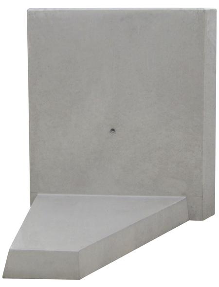 MR. GARDENER L-Stein-Ecke, BxHxL: 100 x 105 x 100 cm, Beton