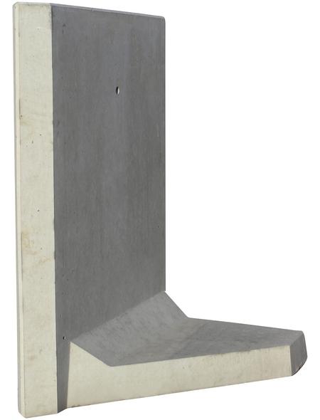 MR. GARDENER L-Stein-Ecke, BxHxL: 100 x 130 x 100 cm, Beton